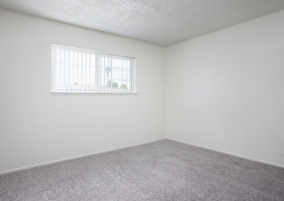 Empty bedroom with window