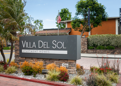 Villa Del Sol entrance sign
